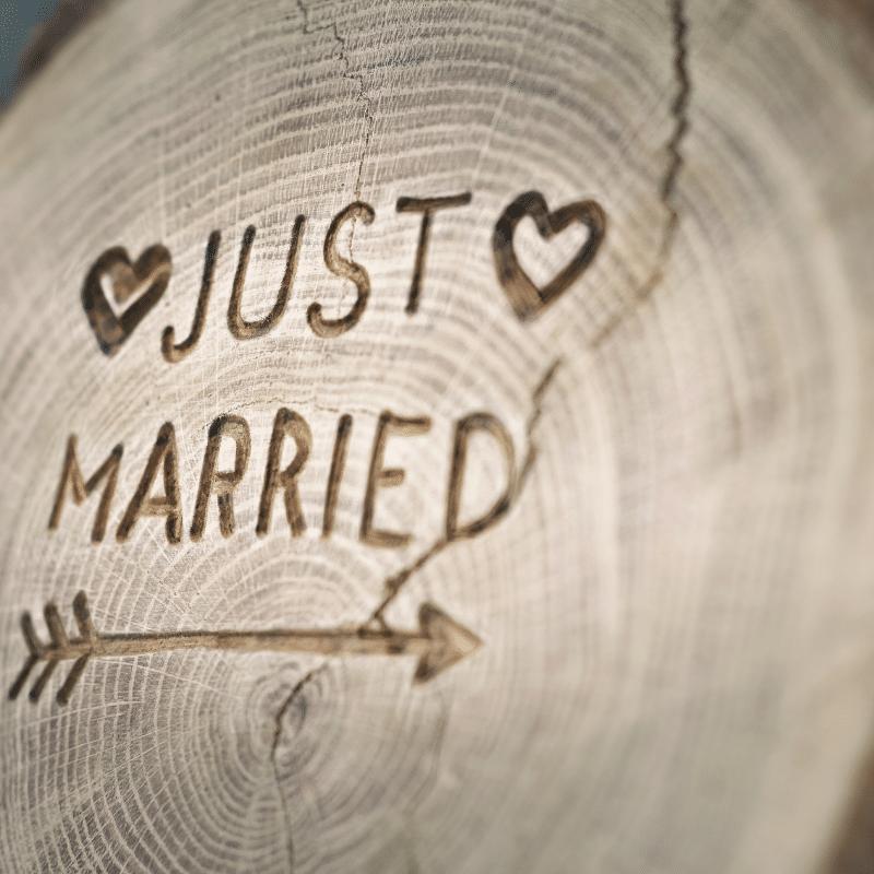 Bruiloft styling boord